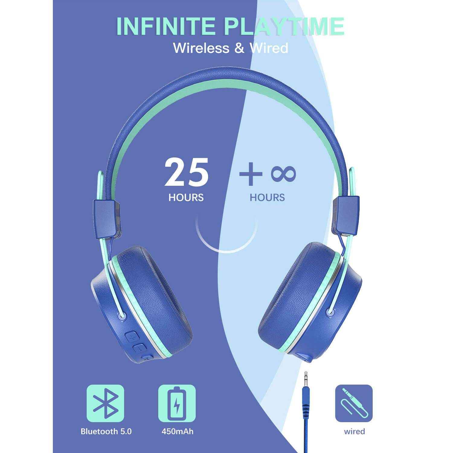 Kids Wireless Noice Cancelling Headphones