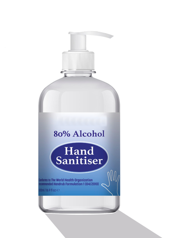 500 ml Antibacterial 70%-80% Alcohol Hand Sanitiser Liquid - PPE Supplies UK
