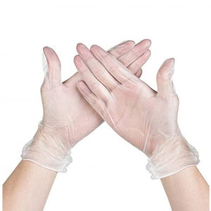 Disposable Clear Vinyl Gloves (pack of 100) - PPE Supplies UK