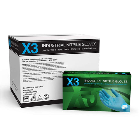 Premium Industrial Nitrile Gloves - PPE Supplies UK