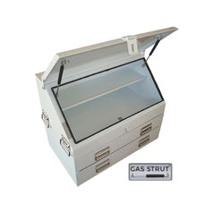Grip 29284 702mm x 404mm x 585mm 2 Drawer White Steel Upright Ute Tool Box