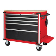 Milwaukee-48228537-1016mm-40-6-Drawer-Wood-Top-Work-Bench-Roller-Cabinet