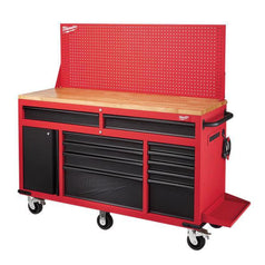 Milwaukee-48228562-1549mm-61-11-Drawer-Wood-Top-Steel-Roller-Cabinet-Work-Station
