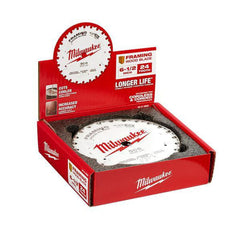 Milwaukee-48418620-10-Piece-165mm-6-1-2-24T-Framing-Wood-Circular-Blade-Set