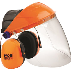 ProChoice BGVCEADD Safety Browguard with Clear Visor & Earmuffs