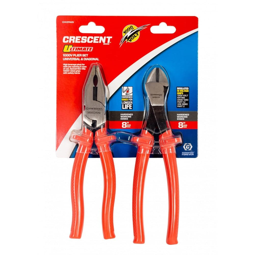 crescent-chv2pakn-2-piece-1000v-insulated-universal-crimping-plier-diagonal-cutter-set