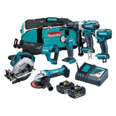 Makita DLX6102X1 6 Piece 18V 3.0Ah Cordless Combo Kit