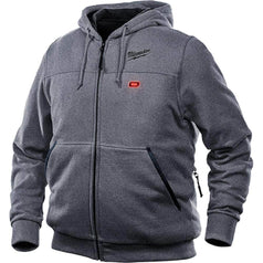 Milwaukee S Milwaukee M12HHGREY9-0 12V Cordless Grey Heated Hoodie Jacket
