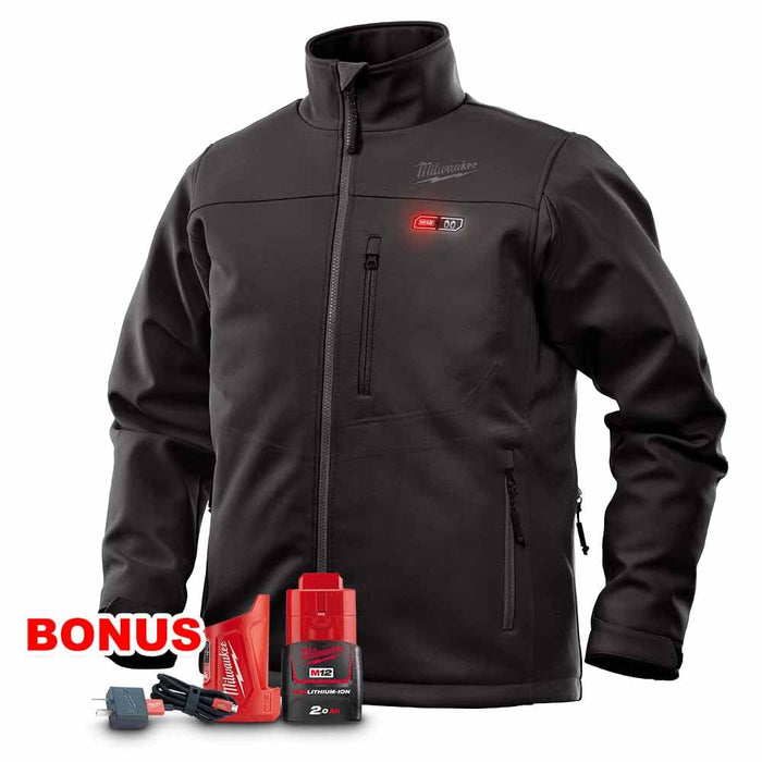Milwaukee M12HJBLACK9-0 12V 2.0Ah Cordless Black Heated Jacket Kit