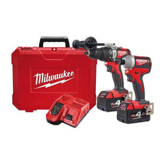 Milwaukee-M18BLPP2A2-402C-2-Piece-18V-4.0Ah-Cordless-Brushless-Drill-Driver-Combo-Kit