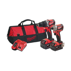 Milwaukee-M18CBLPP2A-302B-2-Piece-18V-3.0Ah-Cordless-Brushless-Compact-Combo-Kit