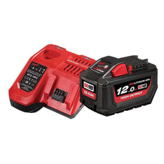 Milwaukee-M18HOSP-121B-12.0Ah-Red-Li-Ion-Cordless-High-Output-Battery-Charger-Combo-Kit