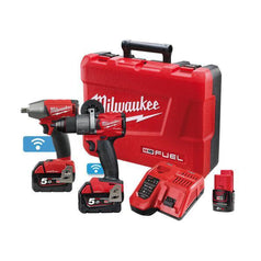 Milwaukee-M18ONEPP2B2-502C-2-Piece-18V-5.0Ah-FUEL-Cordless-ONE-KEY-Tool-Combo-Kit