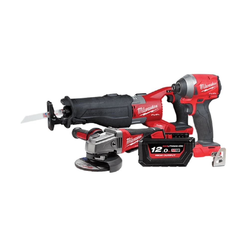 Milwaukee M18XP3C-121 3 Piece 18V 12.0Ah FUEL Cordless Plumbing Booster Combo Kit