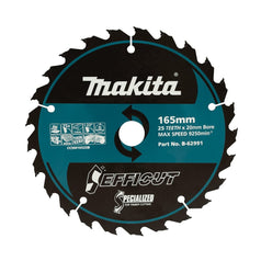 "Makita B-62991 165mm (6-1/2"") 25T Efficut TCT Wood Circular Saw Blade"
