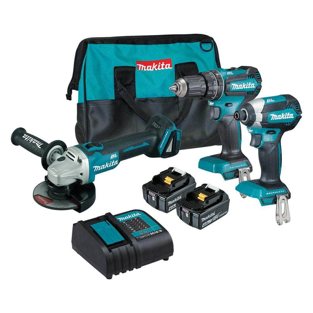 Makita Makita DLX3113SM1 3 Piece 18V 4.0Ah Brushless Cordless Combo Kit