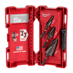 Milwaukee 48899266 3 Piece Metric Shockwave Titanium Step Drill Bit Set