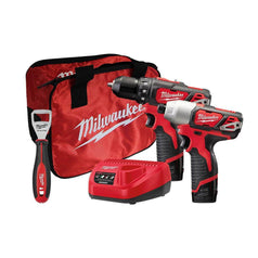 Milwaukee Milwaukee M12BPP2L-152B 2 Piece 12V 1.5Ah Cordless Combo Kit