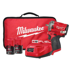 "Milwaukee Milwaukee M12FIW38-202B 12V 2.0Ah 3/8"" FUEL Cordless Stubby Impact Wrench Kit"
