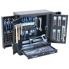 SP-Tools-SP50851-166-Piece-Metric-SAE-Black-CUSTOM-Series-Wall-Cabinet-Tool-Kit
