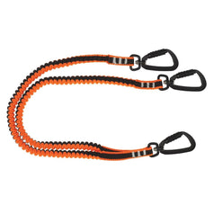 LINQ TL2TTKDKD 80cm Twin Tail Tool Lanyard with Three Double Action Karabiners