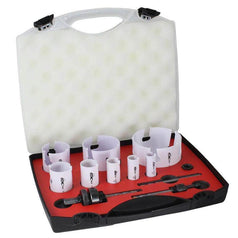 Alpha Alpha HSTCTKEL12 12 Piece 20-92mm TCT Multi Purpose Hole Saw Set