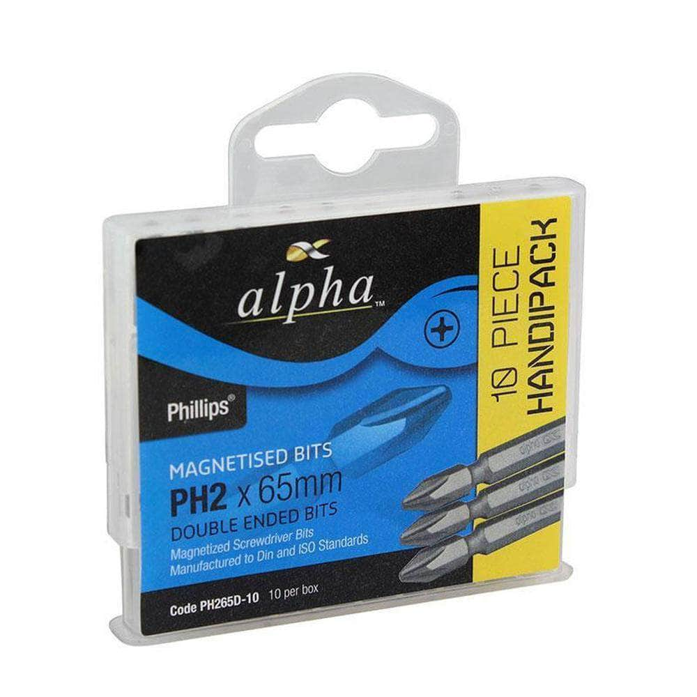Alpha Alpha PH2100DH 10 Pack PH2 x 100mm Thunderzone Double Ended Phillips Driver Bits