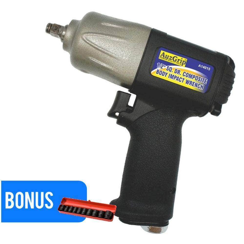 AuzGrip AuzGrip A14015 1750Nm 1/2'' Square Drive Composite Body Air Impact Wrench