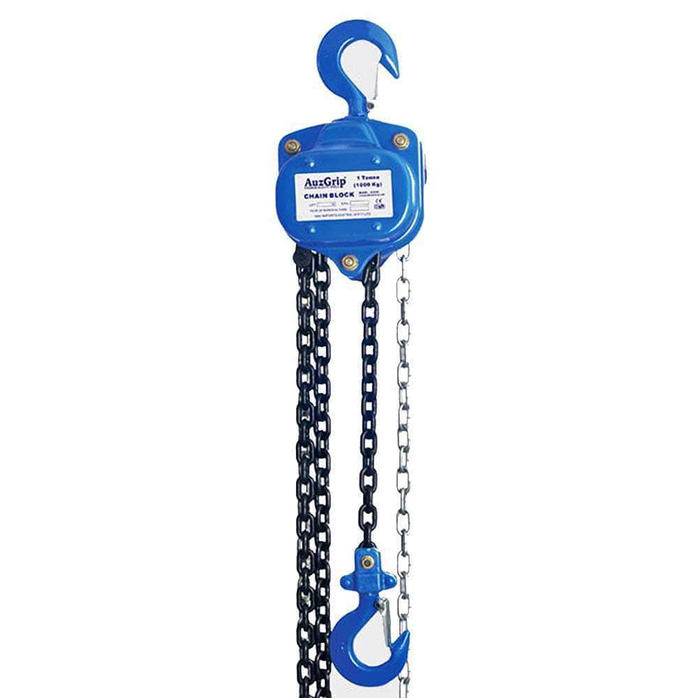 AuzGrip AuzGrip A18109 1000kg (1T) 3m Heavy Duty Industrial Chain Block