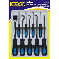 AuzGrip AuzGrip A46107 9 Piece Heavy Duty Pick & Hook Set with Scraper