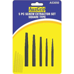 AuzGrip AuzGrip A53050 5 Piece Square Type Screw Extractor Set