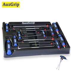 AuzGrip AuzGrip A71340 9 Piece Metric T-Handle Ball Point Hex Key Set