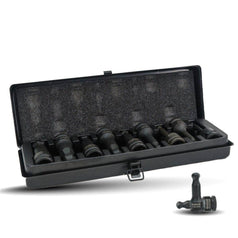 AuzGrip AuzGrip A84605 9 Piece Metric 1/2'' Square Drive Ball End Hex Bit Impact Socket Set