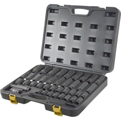 AuzGrip AuzGrip A84618 34 Piece SAE 6 Point 1/2'' Square Drive Deep & Standard Impact Socket Set