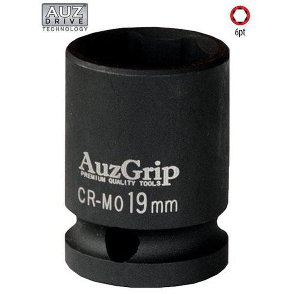 "AuzGrip AuzGrip A84627 15mm 6 Point 1/2"" Square Drive Impact Socket"