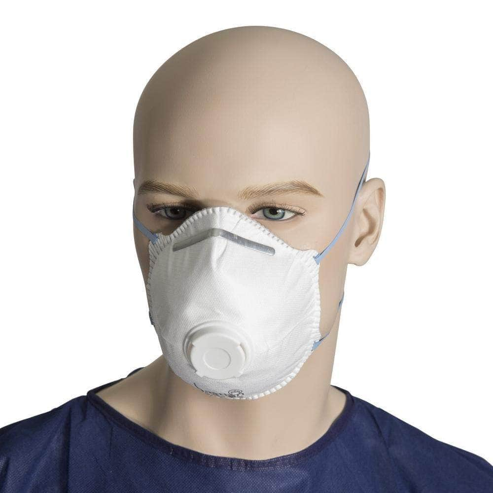 Bastion Bastion BNR22524 12 Piece P2 Disposable Respirator Face Mask with Valve