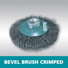 Makita D-55398 115mm x M14 Bevel Crimped Wire Wheel Brush
