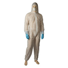 Bastion BNR26125 Large White Polypropylene Protective Coverall