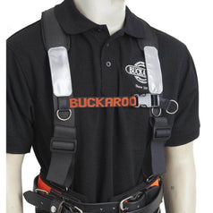 Buckaroo Buckaroo TMHB Black Leather Padded Shoulder Brace