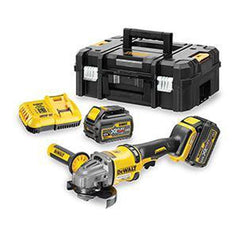"Dewalt Dewalt DCG414T2-XE 54V 6.0Ah 125mm (5"") XR FLEXVOLT Cordless Brushless Angle Grinder Kit"