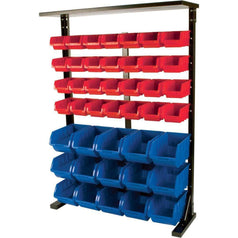 Grip Grip 29390 Double Sided Mobile Storage Bin Rack with 94 Bins