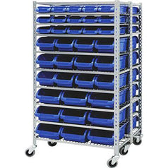 Grip Grip 29395 380kg Heavy Duty Double Sided Storage Bin Rack with 72 Bins