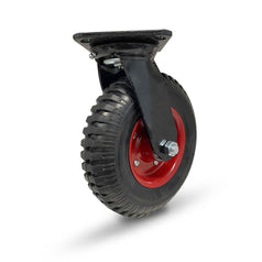 Grip 42088 160mm 150kg Rubber Wheel Steel Core Swivel Castor