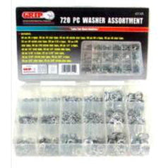 Grip Grip 43145 720 Pece Zinc Plated Washer Assortment Set