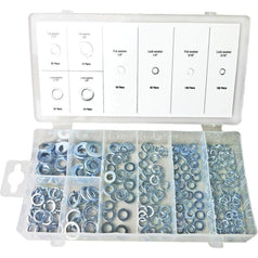 Grip Grip 43146 500 Piece Zinc Plated Flat & Lock Washer Assortment Set