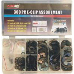 Grip Grip 43165 300 Piece SAE Steel E-Clip Assortment Set