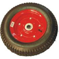 "Grip Grip 52107 400mm 1"" Offset Rubber Steel Core Pneumatic Wheel"