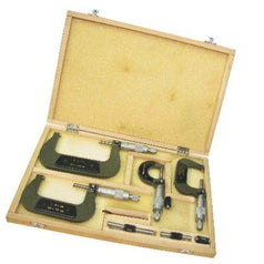 Grip Grip 59085 4 Piece 0-100mm Metric External Screw Gauge Micrometer Set