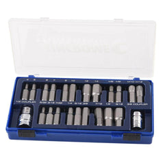 "Kincrome Kincrome 13784 23 Piece Metric & SAE 1/2"" Square Drive Hex & Spline Bit Set"