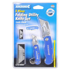 Kincrome Kincrome K060022 2 Piece Lock-Back Folding Utility Knife Set